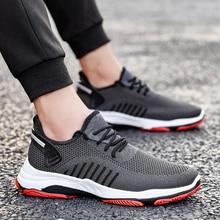 PUIMENTIUA Fashion 2019 Men Vulcanize Shoes Casual Shoes Comfort Sneakers Non-slip Male Mesh Tenis Masculino Plus Size 39-45