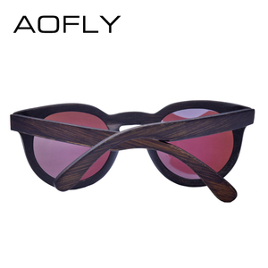 Image 4 - AOFLY MARKE DESIGN Frauen Sonnenbrille Polarisierte Cat Eye Sonnenbrille Holz Rahmen Vintage Handgemachte Bambus Gafas UV400 AF603