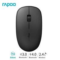 Rapoo slim 3d 3520 p mouse óptico sem fio para apple pc windows laptop mouse com 1000 dpi ambidestro & dust-design à prova