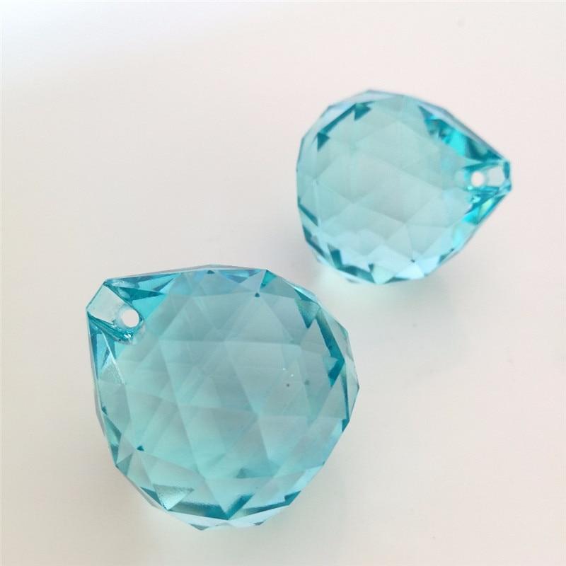 light aquamarine 30mm Crystal chandelier hanging pendant ...