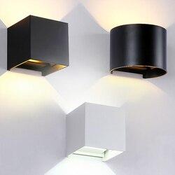 Nowoczesne minimalistyczne lampy LED ściemniania COB na zewnątrz wodoodporne ściany u nas państwo lampy w górę iw dół po schodach przejściach i korytarzach sypialnia salon łazienka dziedziniec