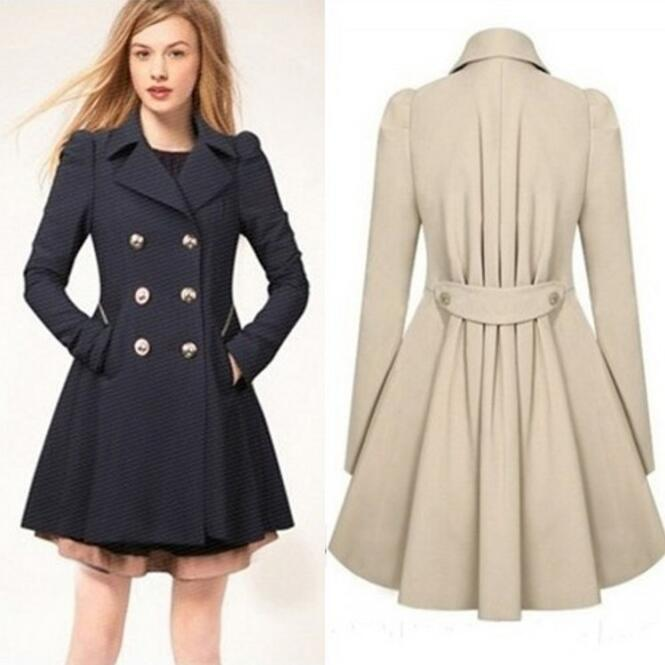 2019 Spring Women custom Fit coats plus size Trench British Style Women Clothing fashion long trench coat femme elegant Overcoat