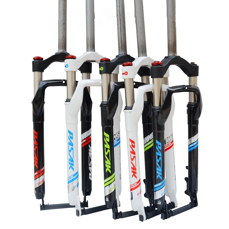 MEROCA 26inch Moutain Snow Bike Fork Fat bicycle Fork Air Gas Oil Locking Suspension Forks Aluminium Alloy For 4.0