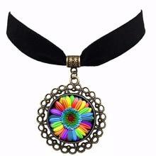 Lesbian Fashion Glass Crystal Bright-colored Choker