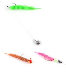 Image 2 - Dance Worm esca morbida esca da pesca 6.5/7.5/8.5cm ago coda dritta esche artificiali Bass mandarino Culter 16 20 pezzi