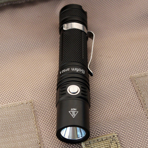sofirn sp32a kit poderosa lanterna led 18650