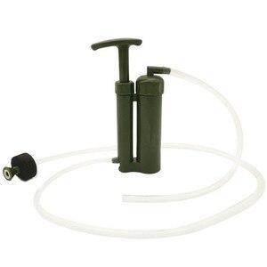 Image 2 - Tragbare Wasser Filter Outdoor Reinigen Pumpe Mini Persönliche Wasser Filteres Stroh Neue Armee Grün Wandern Camping Sicherheit Überleben Werkzeuge