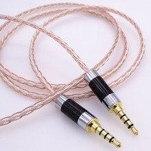 Pinos cabo de 1 m 3.5mm Macho para Macho cabo Adaptador de Áudio AUX 8 Núcleos 4 + 4 Híbrido 5N Pcocc Extensão cabo