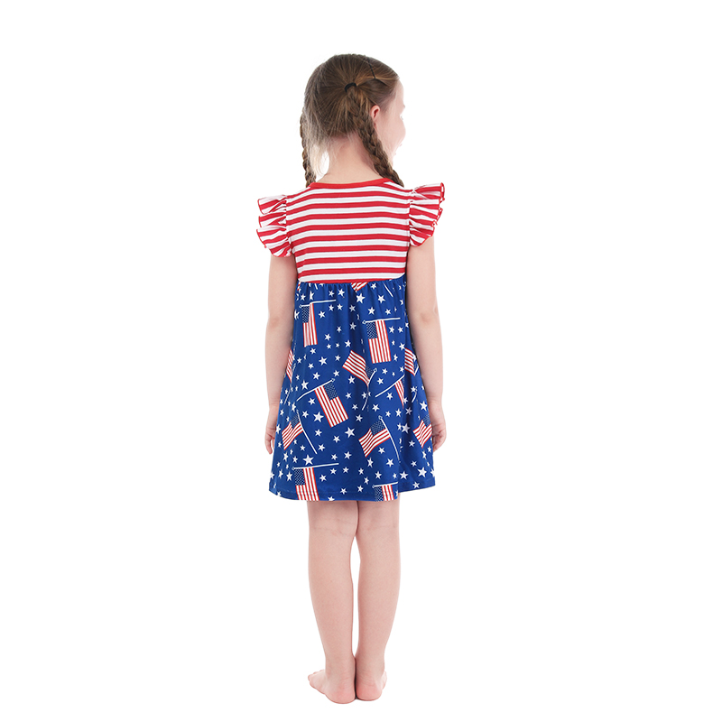 c4cdac7e44e Kaiya Angel 4th Of July Unicorn Fireworks Flag Patriotic Day 2018 Summer  Dress Baby Girl Summer Princess Party Wedding Clothes-in Dresses from  Mother   Kids ...