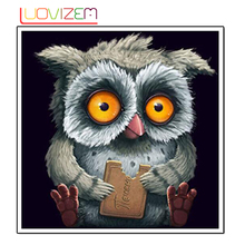 5D Diy Diamond Painting Owl embroidery 3D Mosaic Pattern Rhinestone Patch Acupuncture Resin. LUOVIZEM L144