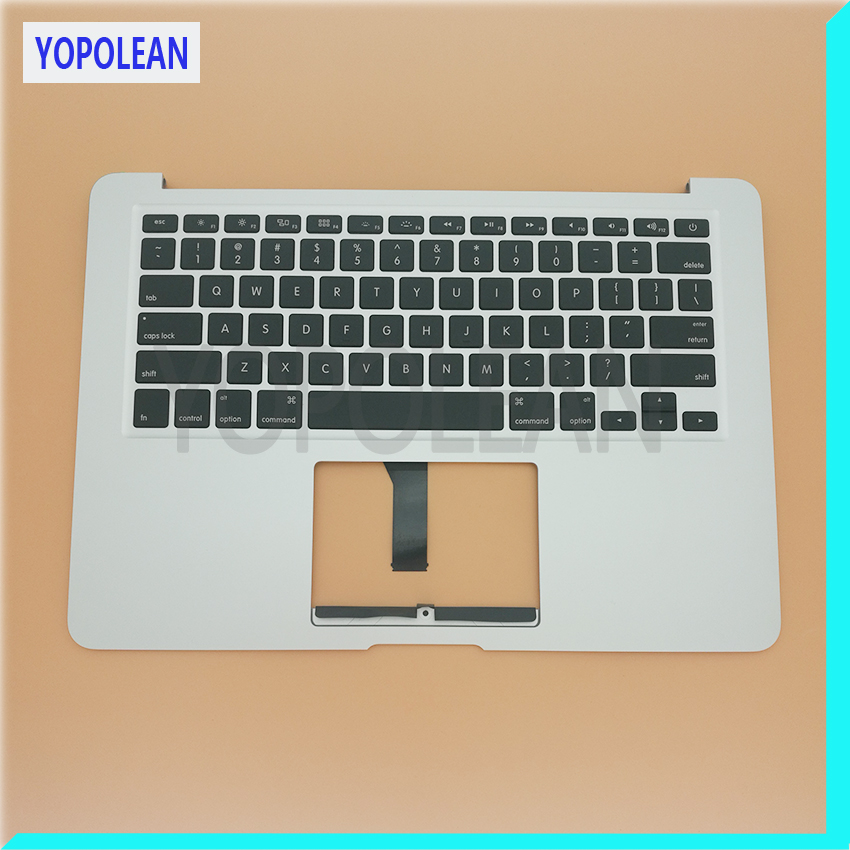Brand New US Standard English Keyboard Top Case Palmrest For Macbook Air 13 A1466 2013 2014 2015 2017 original new topcase 11 6 for macbook air a1370 a1465 palmrest top case with us keyboard backlight no touchpad 2013 2015