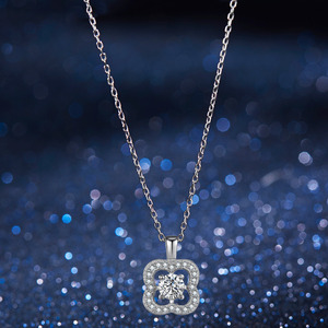 Image 3 - Fashion Flower Crystal Silver Pendant Necklaces for Women 925 Silver Chain Wedding Jewelry Lover Gift