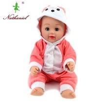 Stäng ögon! 40cm baby Dolls lol silikon poppen återfödd Boneca Rapunzel leksaker badande flickor Jul Födelsedag presenter Nathiniel