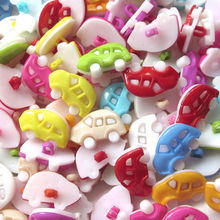 Mini Car Plastic Backhole DIY Baby buttons sewing/accessories/craft