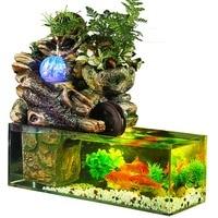 Aquarium fish tank artificial landscape rockery water fountain with ball ornaments living room desktop lucky home bar decoration