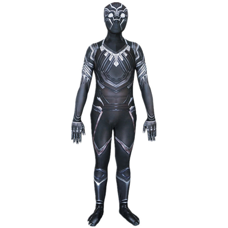 Ainiel Civil War Black Panther Cosplay Costume 3D Shade Cosplay zentai Bodaysuit Halloween Party Superhero Costume