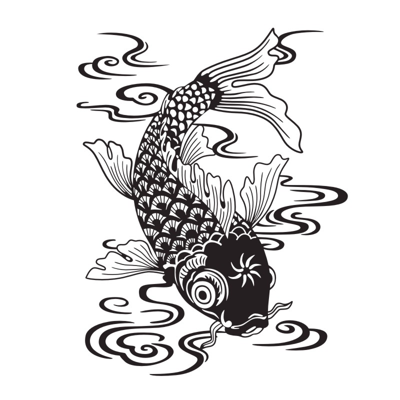 Carp Fish Wall Stickers Car Styling Decorative Vinyl Wall Decals