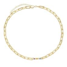 Klasyczna biżuteria złota wypełniona cz link projekt łańcucha pastelowy pasek urok otwórz link bransoletka naszyjnik zestaw biżuterii tanie tanio Moda Zestawy biżuterii SILVER Naszyjnik bransoletka TRENDY Kobiety Cyrkonia Party BRACELET NECKLACE Księżyc 925 SILVER SIMPLE JEWELRY SET