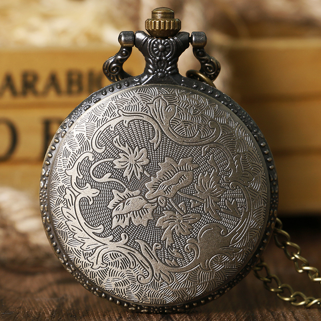 Cool Japaneses Animation Fairy Tail Natsu Dragneel Hollow Design Quartz Pocket Watch With Necklace Chain Relogio De Bolso