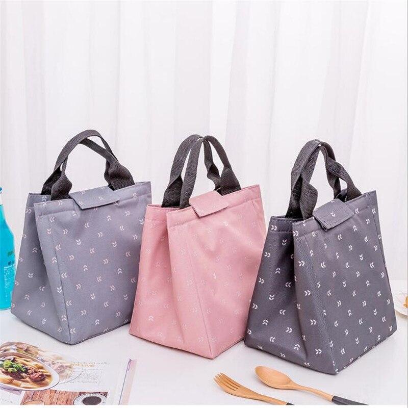 Blatt Tote Thermische Lunch Bag Wasserdichte Oxford Tuch Strand Mittagessen Tasche Student Lebensmittel Picknick Tasche Kühltasche Hohe Qualität