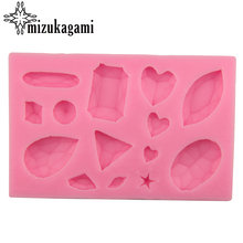 1pcs UV Resin Jewelry Liquid Silicone Mold Heart Leaf Triangle Resin Charms Molds For DIY Intersperse Decorate Making Jewelry