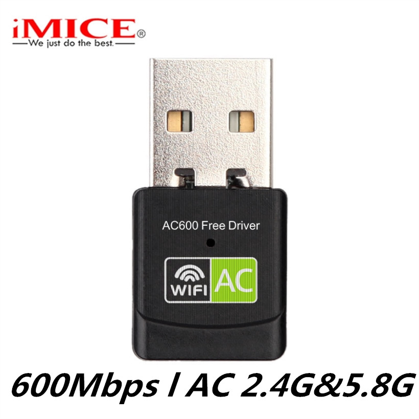 USB WiFi Adapter Wifi 5 Ghz Adapter Wi Fi USB Ethernet AC 600Mbps Wi Fi Dongle Network Card Wireless Wi-Fi Receiver Free Driver