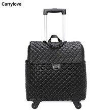 """CARRYLOVE 1"""" дюймов женская сумка на колесах багажные крутящееся женские ручной клади дорожная сумка на колесах"""