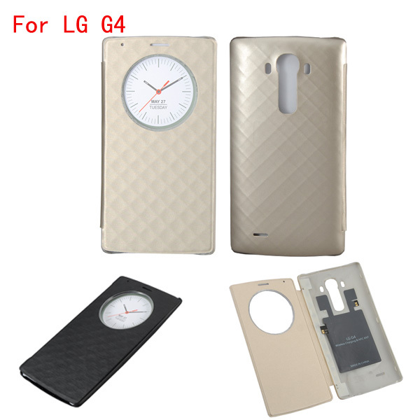For LG G4 Quick Smart Circle Case Luxury Official Flip Leather Back Cover with NFC & Qi Wireless Charging For LG G4 Quick Smart Circle Case Luxury Official Flip Leather Back Cover with NFC & Qi Wireless Charging