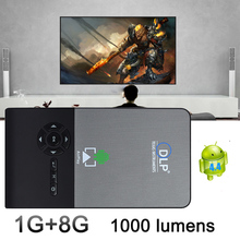 C2 Smart dlp Pocket mini projector full hd Portable Wifi Project Android OS 1G/8G LED home cinema bluetooth4.0 projector mini pc