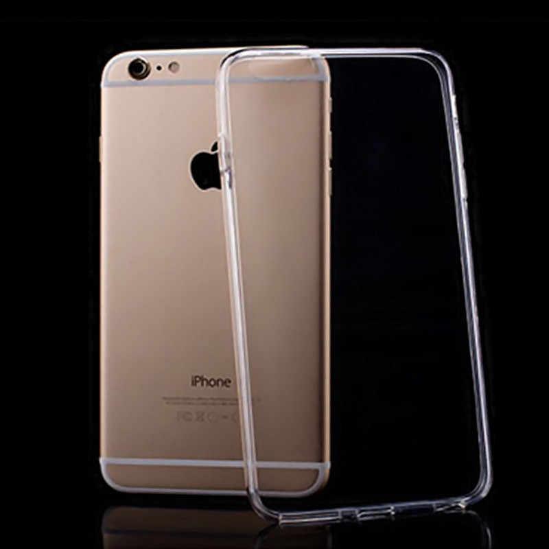 Ultra fino claro transparente tpu silicone caso para iphone xs max xr 6 7 6 s plus 5S proteger caso de telefone de borracha para iphone 8 7 plus