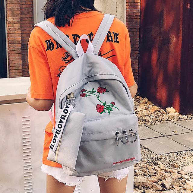 Schoolbag female Korean Harajuku campus backpack personalized canvas backpack students Fashion Backpacks
