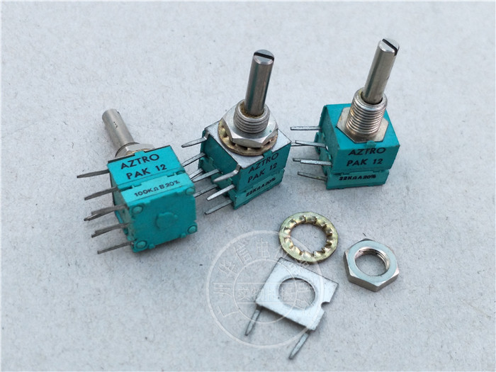 Original new 100% import PAK12 A22K B10K B100K 20% dual potentiometer handle long 22MMX4MM (SWITCH) ctr associated with a single switch potentiometer b10k handle length 16fmmx5mm