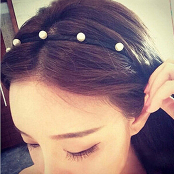 New Fashion Handmade simple pearl hair hoop Hairband headwear headdress Ornaments jewelry for woman girls lady Bezel Accessories