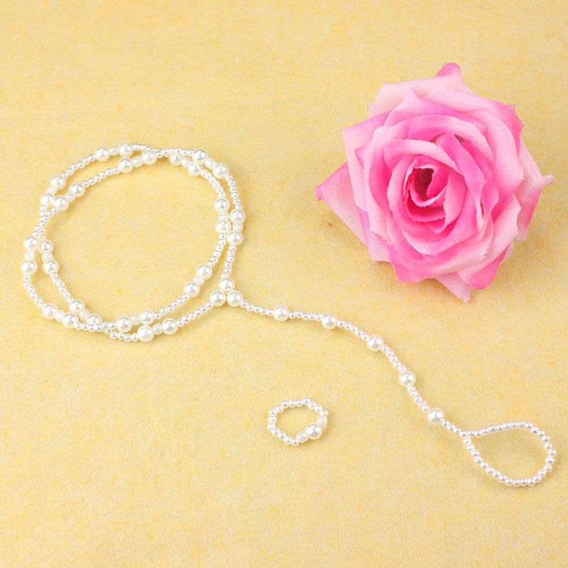 1 SET Exquisite Pearl Anklet Beach Imitation Pearl Barefoot Sandal Anklet Chain Foot Jewelry Women Ankle Bracelet