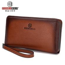 PU Men's Clutch Wallets New Fashion Men Wallets Casual Wallet Men Purse Male Clutch Bag Brand business Leather Long Wallet