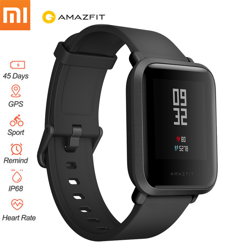 English Version!!Xiaomi Amazfit Bip Smart Watch Fitness Tracker Bracelet GPS Huami Heart Rate Tracker SmartWatch Smart MiBand 3 huami amazfit smart watch xiaomi smartwatch bip bit face gps fitness tacker heart rate ip68 waterproof english version