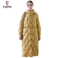 2017 New Europe Fashion Women Winter Long Down Jackets With Stand Collar Female Warm Duck Down Coat High Quality PQ121