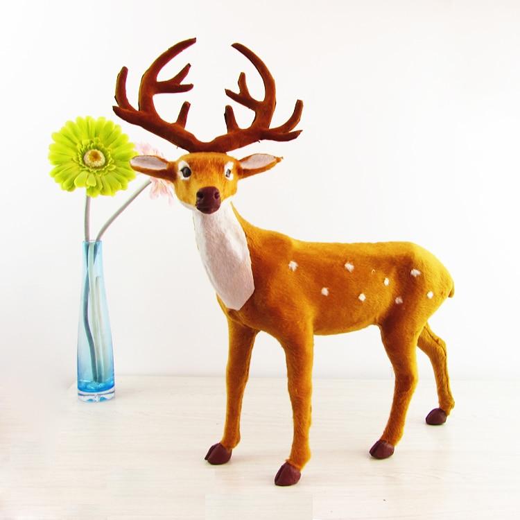 big simulation round antlers deer toy big lifelike sika deer model gift 41x52cm