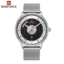 цены NAVIFORCE New Top Brand Luxury Men Watch Mens Watches Quartz Clock Male Sport Steel Mesh belt Wrist Watch relogio masculino 2019