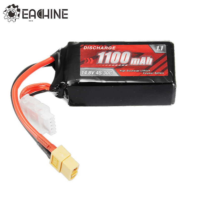 New Arrival Eachine Racer 250 PRO FPV Drone Spare Part 4S 14.8V 1100mAh 30C Battery XT60 For RC Multicopter Model Parts original wingsland s6 bb gun bomb gun extended part for pocket drone rc quacopter spare part