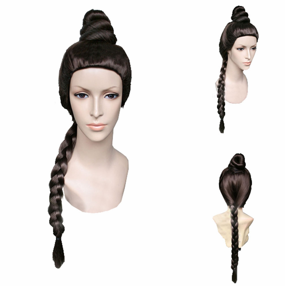 Star Wars Princess Leia Cosplay Props Coffee Brown Long Braid Hair Women Festival Party Costume Headwear Accessories