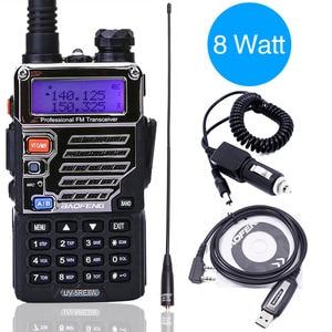 BaoFeng UV-5RE 8W walkie talkie 10km long range HIGH POWER Handheld 1800mah Battery cb HAM upgrade of UV 5RE portable Radio