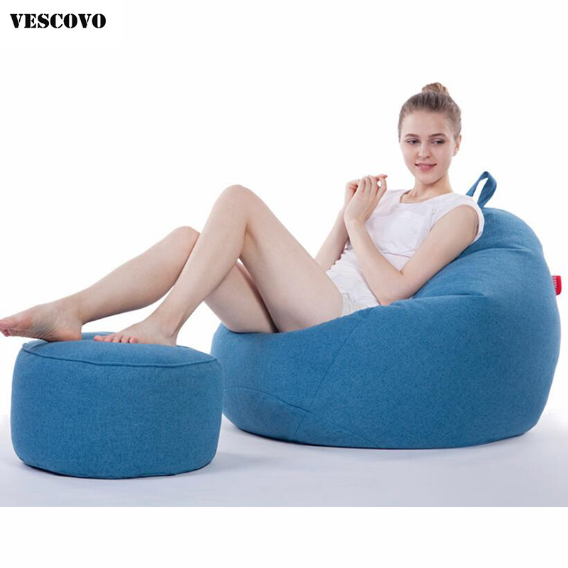Super Us 105 08 29 Off Vescovo Medium Size Tatami Sofas Bean Bag Chair Set With Footstool In Bean Bag Sofas From Furniture On Aliexpress Beatyapartments Chair Design Images Beatyapartmentscom