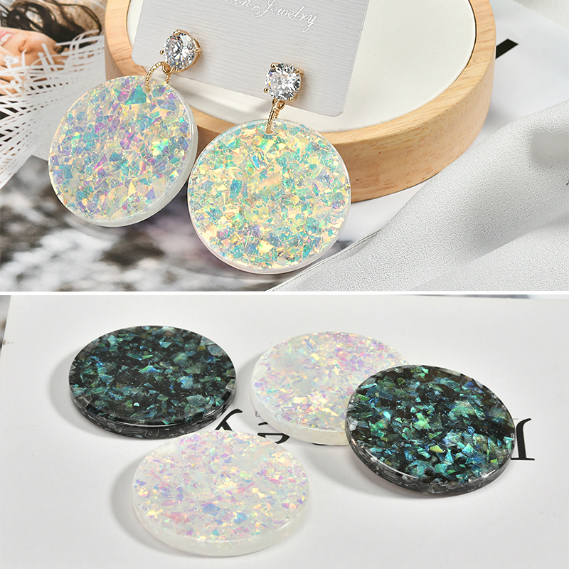 European And American Retro Mermaid Earrings Diy Handmade Temperament Extremely Simple Round Fantasy Accessories Match