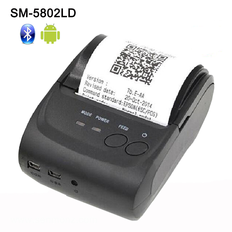 Portable 58mm Thermal Bluetooth Printer Bluetooth Receipt ...