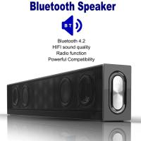 33 TV Soundbar Wireless Bluetooth 4.2 Speaker TV Desktop Wall Mount Speaker Home Theater Audio Sound Blaster Support FM/TF/AUX