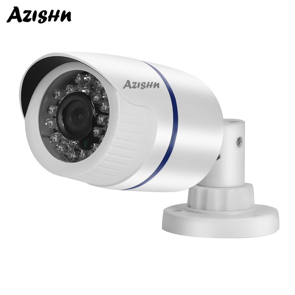 AZISHN 5MP 2592x1944 HD Resolution Network Security Camera ONVIF 3.6mm Wide Angle Outdoor Bullet Home Surveillance POE IP CameraAZISHN 5MP 2592x1944 HD Resolution Network Security Camera ONVIF 3.6mm Wide Angle Outdoor Bullet Home Surveillance POE IP Camera