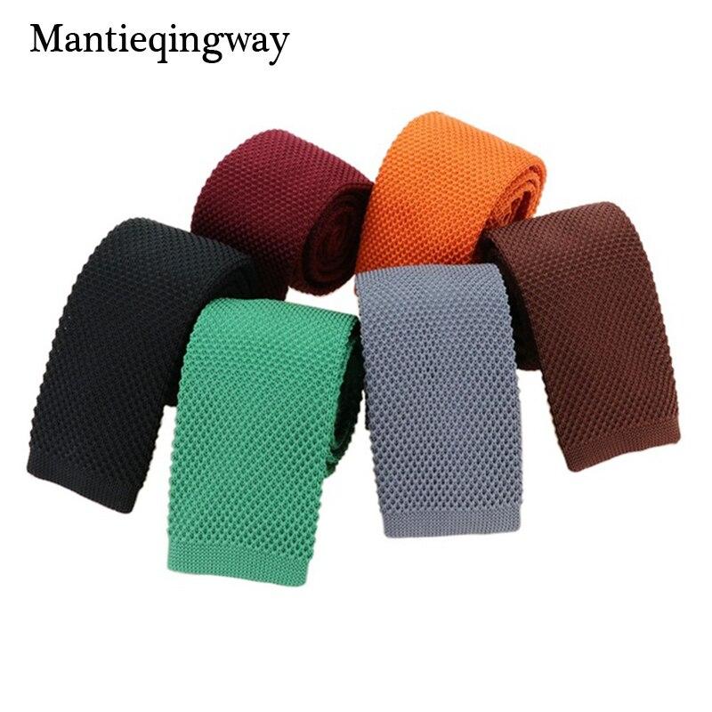 Mantieqingway Fashion Burgundy Neck Tie
