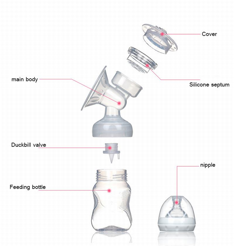 Electric Breast Pump Natural Suction Enlarger Kit Breast Feeding Bottle -6530