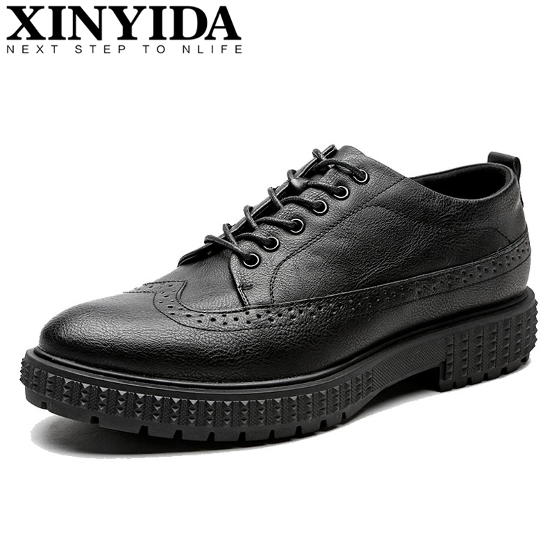 Zapatos Respirant Cuir Taille gray Hommes Sculpté Britannique Richelieu Casual Vintage Bout 38 44 Mode Pointu Chaussures Black brown En ZiXOTPlwku